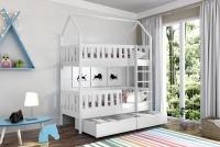 Poschodová posteľ domček Dolores Certifikát biale posteľ