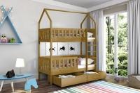 Poschodová posteľ domček Dolores Certifikát lozko poschodová z wysokimi barierkami
