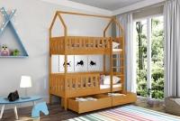 Poschodová posteľ domček Dolores Certifikát posteľ so zásuvkami