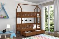 Poschodová posteľ domček Dolores Certifikát ciemne posteľ