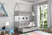 Poschodová posteľ domček Dolores Certifikát Posteľ so zábradlím