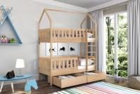 Poschodová posteľ domček Dolores Certifikát posteľ Borovica