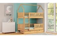 Poschodová posteľ domček Dolores Certifikát Posteľ poschodová domek z bezpieczna drabinka