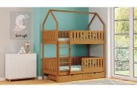 Poschodová posteľ domček Dolores Certifikát Posteľ detský poschodová w farbe olchy