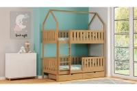 Poschodová posteľ domček Dolores Certifikát Posteľ poschodová drewniane