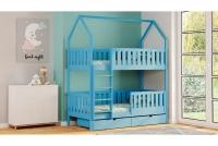 Poschodová posteľ domček Dolores Certifikát Modré Posteľ domek