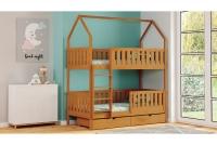 Poschodová posteľ domček Dolores Certifikát drewniane Posteľ poschodová domek