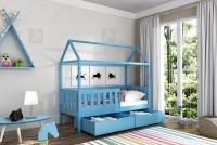 Detská posteľ domček Dora 2 Certifikát Posteľ dora so zásuvkami