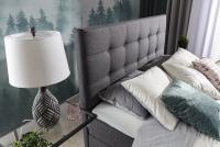 Boxspring posteľ Inez 160 x 200 wysokie pwezglowie z przeszyciami