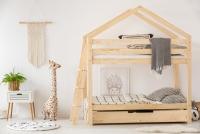 Poschodová posteľ s výsuvným lôžkom v tvare domčeka Hania III posteľ z szuflada