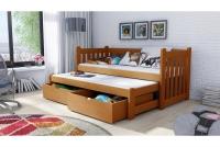 Detská posteľ Swen s výsuvným lôžkom DPV 002 Certifikát Posteľ sosnowe