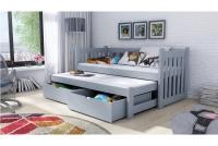 Detská posteľ Swen s výsuvným lôžkom DPV 002 Certifikát lozko drewniane szare