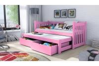 Detská posteľ Swen s výsuvným lôžkom DPV 002 Certifikát posteľ rozowe