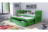 Detská posteľ Swen s výsuvným lôžkom DPV 002 Certifikát posteľ Zelené