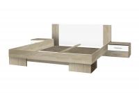 Posteľ ze stolikami 180 i opcja szuflad Vera 82 Dub svetlá sonoma/Biely