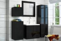 Zrkadlo Combo - MDF Čierny lesk Zrkadlo Combo czarne z polyskiem