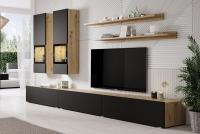 Obývacia stena Baros 10 Dub artisan/Čierny mat