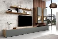 Obývacia stena Baros 10 Dub artisan/šedý mat
