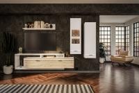 Obývací stěna do obývacího pokoje Cordoba Bílý/Dub artisan