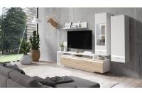 Obývacia stena do obývacej izby Cordoba Biely/Dub artisan Nábytok do salonu