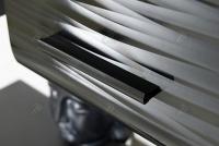 Obývacia stena Blade 4 závesná vitrína čierna
