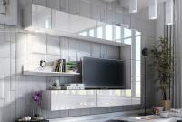 Obývací stěna moderní Combo 1 Bílý/MDF Bílý lesk