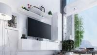 Obývací stěna moderní Combo 11 Bílý/MDF Bílý lesk