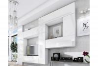 Obývací stěna moderní Combo 12 Bílý/MDF Bílý lesk