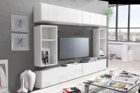 Obývací stěna moderní Combo 14 Bílý/MDF Bílý lesk