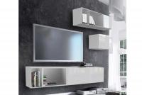 Obývacia stena Combo 15 Biely/MDF Biely lesk