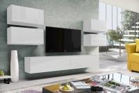 Obývacia stena Combo 16 Biely/MDF Biely lesk