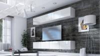 Obývacia stena Combo 18 Biely/MDF Biely lesk