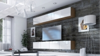 Obývacia stena Combo 18 Dub wotan/MDF Biely lesk