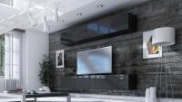 Obývacia stena Combo 18 grafit/MDF Čierny lesk