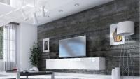 Obývacia stena Combo 19 Biely/MDF Biely lesk