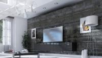 Obývacia stena Combo 19 grafit/MDF Čierny lesk