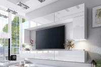 Obývací stěna moderní Combo 2 Bílý/MDF Bílý lesk