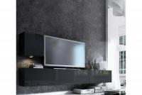 Obývacia stena Combo 20 grafit/MDF Čierny lesk
