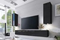 Obývacia stena Combo 21 grafit/MDF Čierny lesk