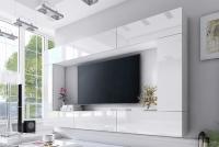 Obývací stěna moderní Combo 3 Bílý/MDF Bílý lesk
