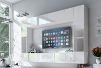 Obývací stěna moderní Combo 6 Bílý/MDF Bílý lesk