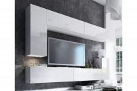 Obývací stěna moderní Combo 7 Bílý/MDF Bílý lesk