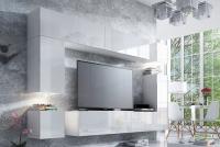 Obývací stěna moderní Combo 9 Bílý/MDF Bílý lesk