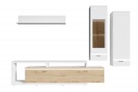 Obývacia stena do obývacej izby Cordoba Biely/Dub artisan Komplet nábytku