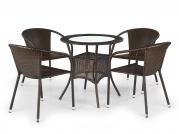 MIDAS stôl Tmavo hnedá