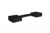 Nadstavec do Toaletné stolíky Combo 15 - grafit/MDF Čierny lesk Nadstavec Combo do Toaletné stolíky