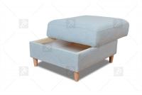 Rohová sedacia súprava Napa  - Výpredaj Taburet z pojemnikiem do naroznika