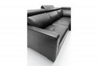 Rohová sedacia súprava rozkladacia Ergo 2,5F-E-1HT/BK - Výpredaj Rohová sedacia súprava skorzany