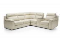 Rohová sedacia súprava z elektrycznie wysuwanym siedziskiem i funkcja spania Libretto 2,5F-E-EL1-CARGO-1RFele