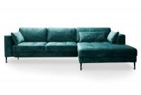 Rohová sedacia súprava s funkciou spania Luzi 2DL-REC/BK